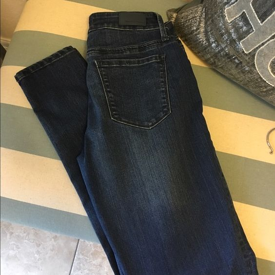 Denim SaleJuicy Couture super skinny jeans Worn once! Juicy Couture super skinny dark wash jeans. Juicy Couture Jeans Ankle & Cropped