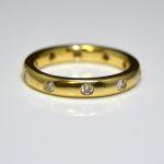 14K Yellow Gold 0.35 Carat Diamond Band $850