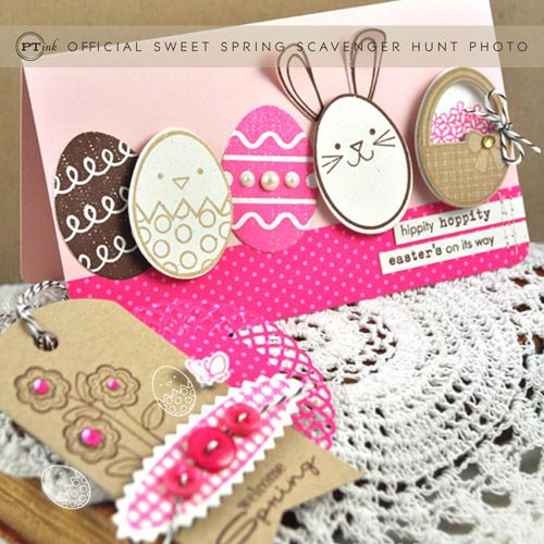 Easter ensemble by Dawn McVey for Papertrey Ink (February 2012).
