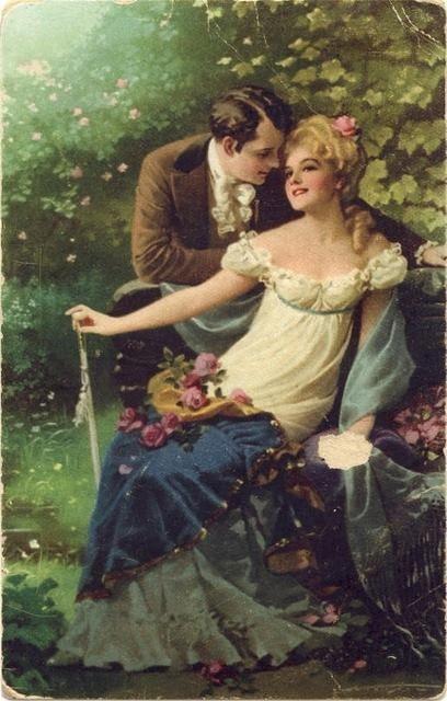 Vintage Lovers 37 Vintage Postcard Amour Pinterest