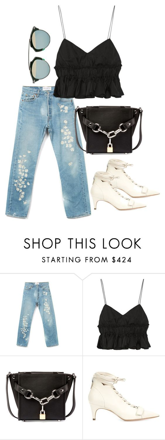 """Untitled #3465"" by bubbles-wardrobe ❤ liked on Polyvore featuring Bliss and Mischief, Tod's, Alexander Wang, Derek Lam and Christian Dior"