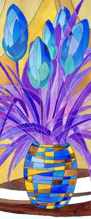 Amazing Flower Vase Cubism from $47.99 | www.wallartprints.com.au #CubistArt #WallArtPrints