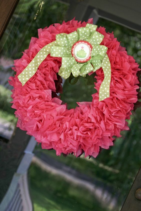 Girly Girl Birthday Parties ~ Inspiration for Your Girly Girl Celebration!: Tissue Paper Wreath Tutorial