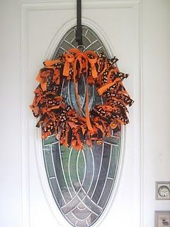 rag wreath #rag #fabric #wreath #halloween