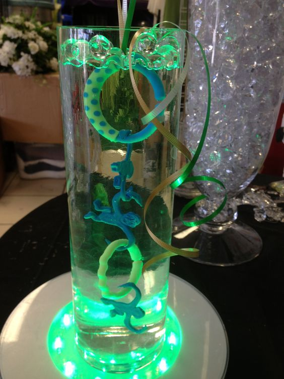 Centerpiece cylinder vase baby shower