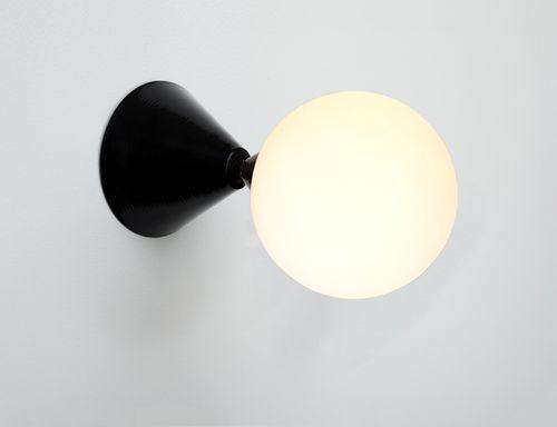 Cone-sphere-wall-black atelier areti
