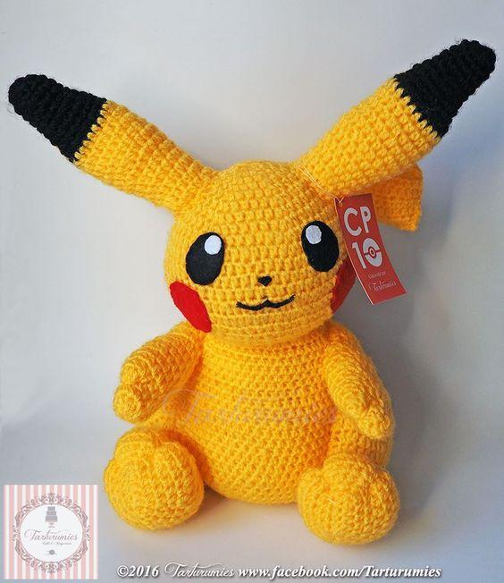 Pikachu En Amigurumi : Patron amigurumi de Pikachu munecos Pinterest ...