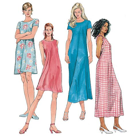 McCall's Misses' Dress In 2 Lengths 6102