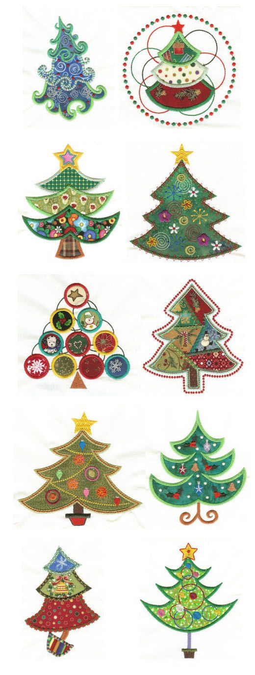 Embroidery | Free Machine Embroidery Designs | O Christmas Tree Applique | DIY Holidays ...