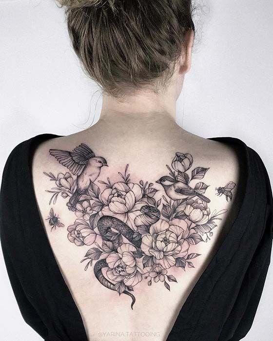 23 Bold And Badass Snake Tattoo Ideas For Women Back Tattoo
