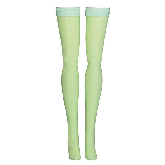 70141b36e53 Doll Stockings for Takara Blythe   Middie Blythe - Jade Green Solid - Doll  Clothes