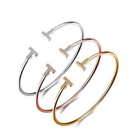 Rhinestone Titanium Bracelet