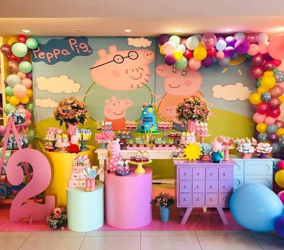 Pin By Aishiteru Magallanes On Peppa Peppa Pig Party Decorations Peppa Pig Birthday Party Peppa Pig Birthday Party Decorations