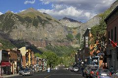 Colorado Art - Downtown Telluride Colorado  by Mike McGlothlen