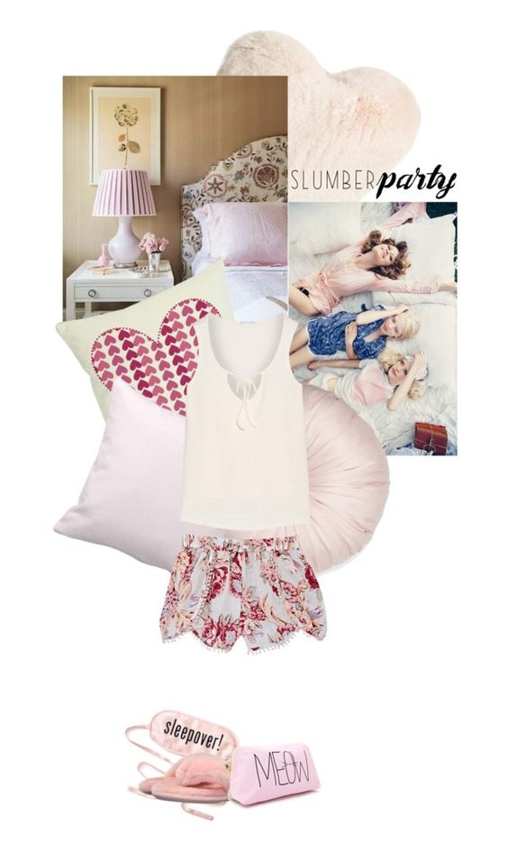 """#slumberparty"" by sophiemex ❤ liked on Polyvore featuring Nordstrom, kumi kookoon, Farrow & Ball, Bedroom Athletics, Forever 21, Skylar Luna, Eberjey and slumberparty"