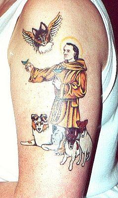 st francis tattoo patron saint of animals tattoos