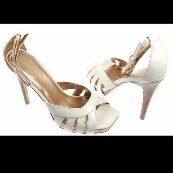 Colin Stuart White Ankle Strap High Heel Sandals 9 New Colin Stuart at Victorias Secret catalog White Ankle Strap High Heel Sandals,  Size?9,  This shoes are new but without box,   I have all shoes in plastic boxes to protect them from damage Colin Stuart Shoes Heels