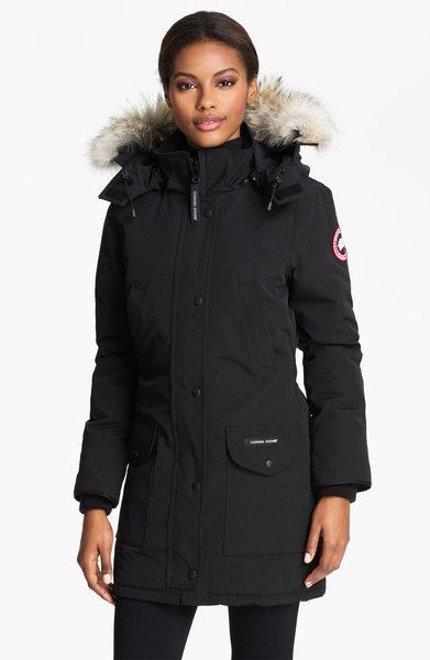 Canada Goose langford parka online discounts - $335 buy Canada Goose Trillium Parka Black Women free shipping ...