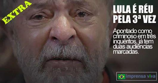 Lula é réu pela 3ª vez e já tem duas audiências marcadas. Vai se sentar no banco dos réus em 08 novembro e 17 de fevereiro