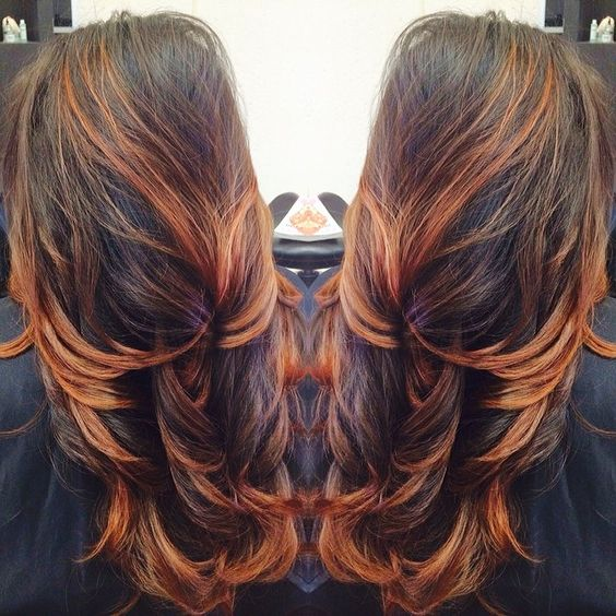Copper balayage I KNOW THIS IS MORE NORMAL THAN THE USUAL HAIR I HAVE ON