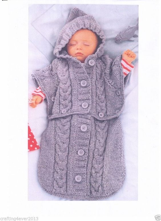 Baby Sleeping Bag Knitting Pattern : Pinterest   The world s catalog of ideas