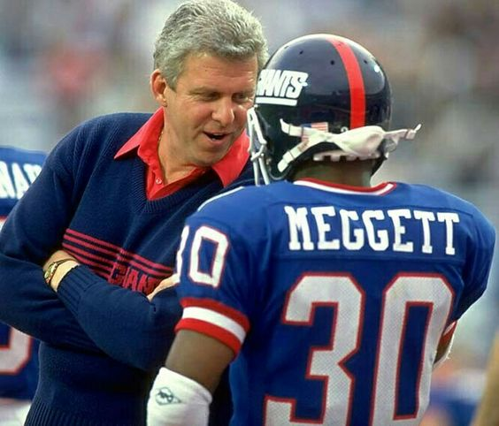 NFL Jerseys Outlet - Bill Parcels chatting with RB Dave Meggett | NY Giants | Pinterest ...