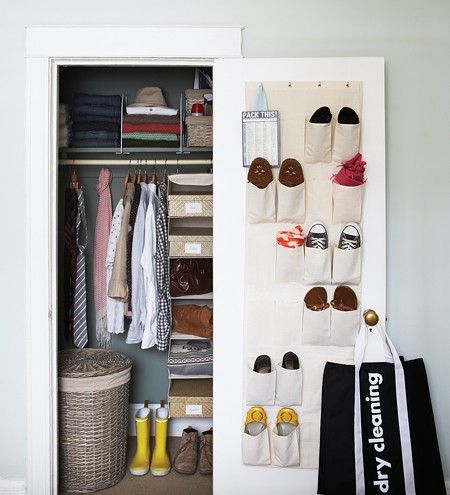 Cool blue condo bedroom makeover organize small closets wrapping paper organization and small - Keep your stuff organized with bedroom closet organizers ...