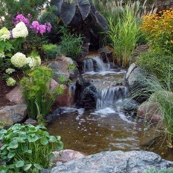 Indoor waterfall garden indoor garden water garden for Koi pond waterfall
