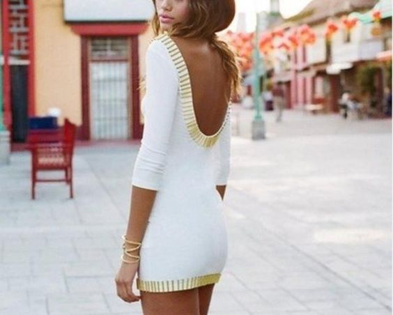 Just bought this! Hopefully it looks the same on me...Gold Rush Dress