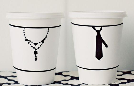 Wedding coffee cups