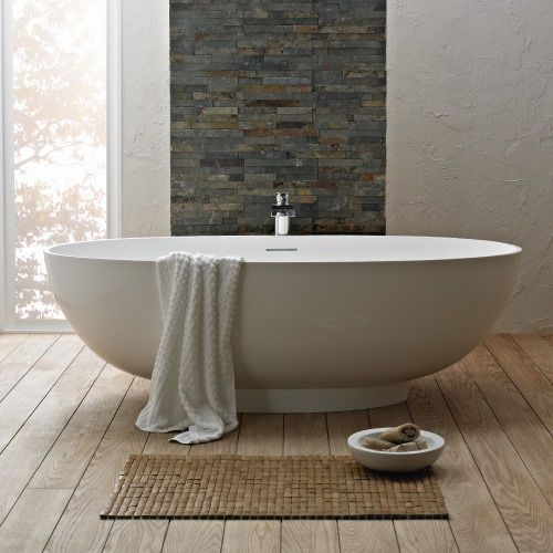Our Lagoon freestanding bath shows how organic shapes work beautifully in the bathroom! Imagine having this ready for your Valentine to soak blissfully in!