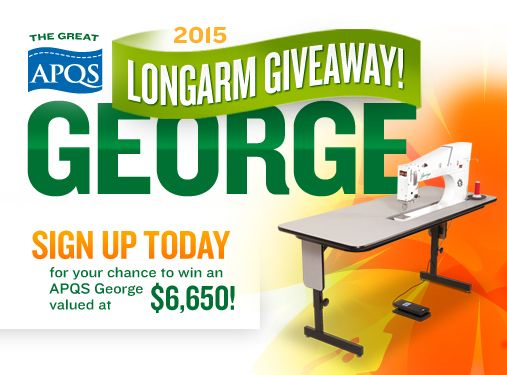 APQS George Giveaway | I <3 Quilting | Pinterest | Quilting and ... : george quilting machine - Adamdwight.com
