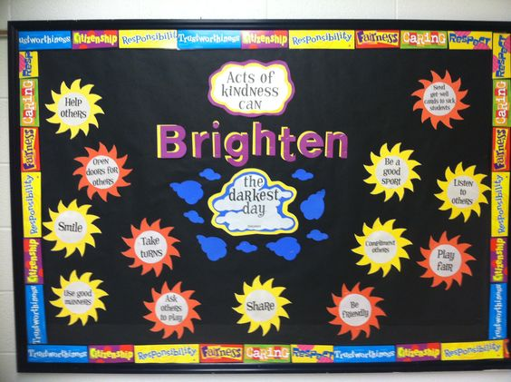 Character Education Bulletin Board---Kindness-- :)