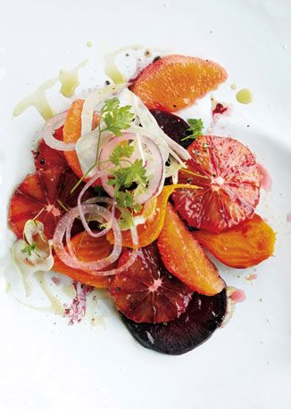 blood orange,beet, and fennel salad