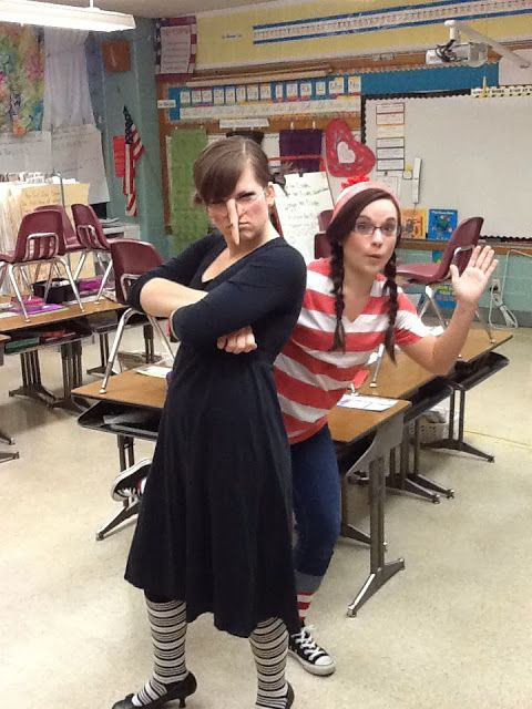 Need some ideas for dressing up as a book character? Here are many - school halloween costume ideas