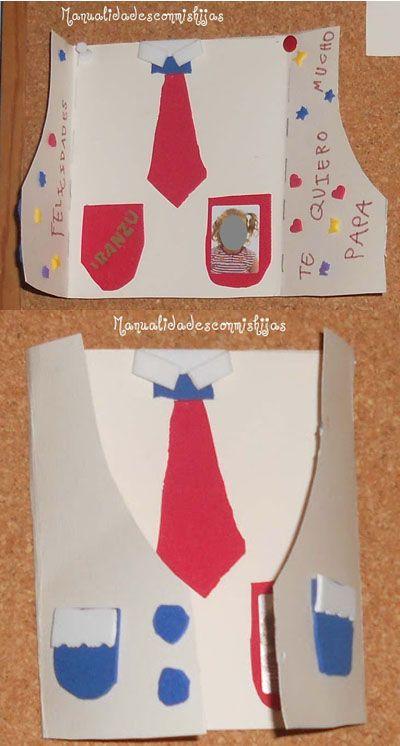 Manualidadesconmishijas: Camisa-Tarjeta para el Día del Padre