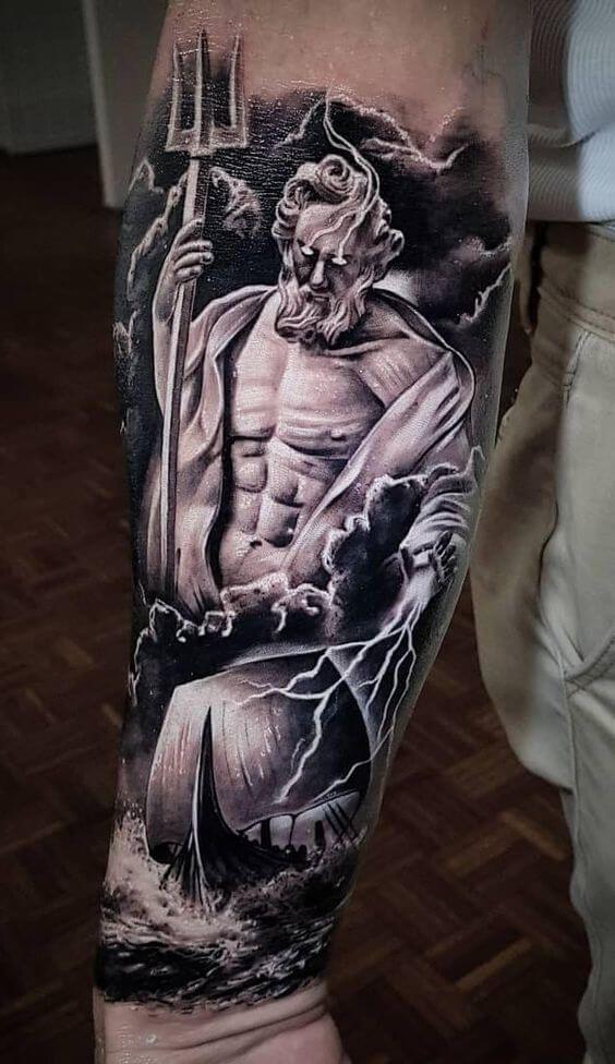 148 Ideas Ancient Greek Gods Tattoos Tattooli Com Poseidon Tattoo Greek God Tattoo Greek Tattoos