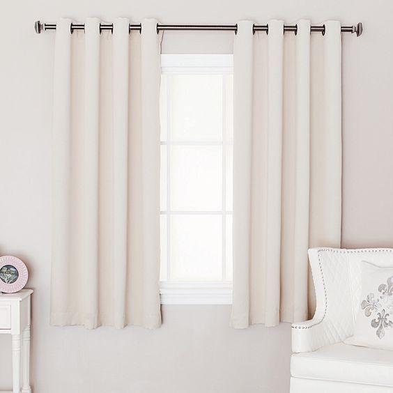 short curtains bedroom windows and curtains on pinterest. Black Bedroom Furniture Sets. Home Design Ideas