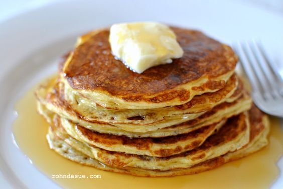 The BEST THM pancakes so far....I added one scoop if swansons protein powder. Also, the maple topping is a MUST