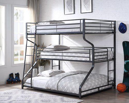 3 Tier Full Twin Queen Bunk Bed Bunk Beds For Boys Room Queen Bunk Beds Bunk Beds For Girls Room