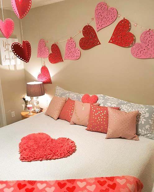21 Cute Valentine S Day Decor Ideas Stayglam Valentine Bedroom Decor Valentines Bedroom Romantic Bedroom Decor