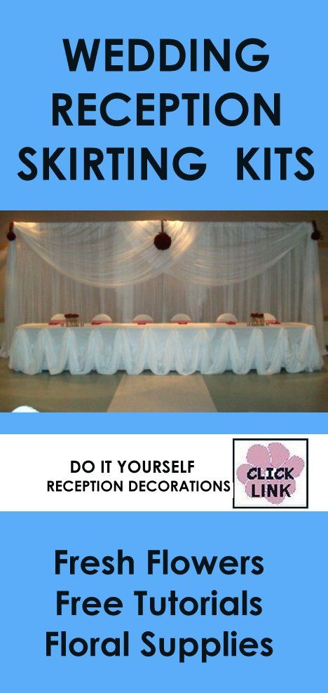 Wedding Reception Decoration Kits : Table skirts diy decorating and flower tutorial on