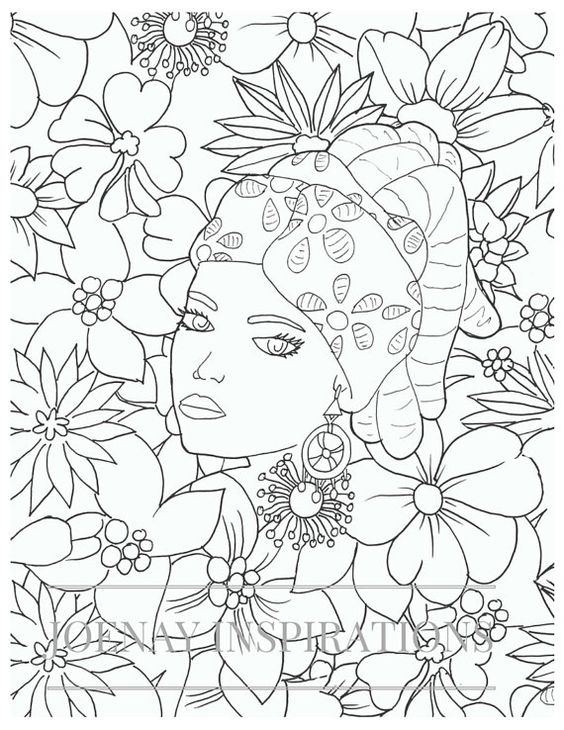 Adult Coloring Book, Printable Coloring Pages, Coloring