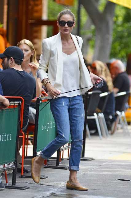 Olivia Palermo leaves Bar Pitti in NYC