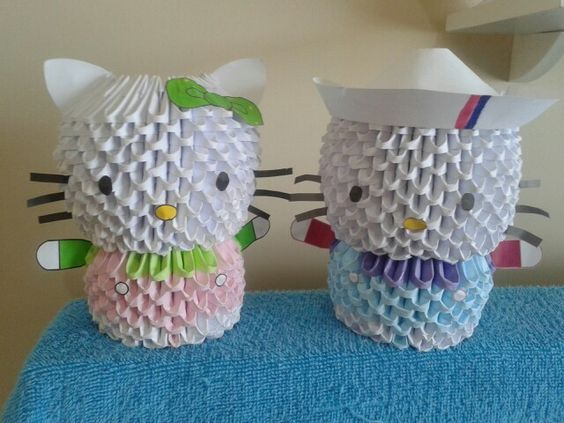 Origami 3d de hello kitty
