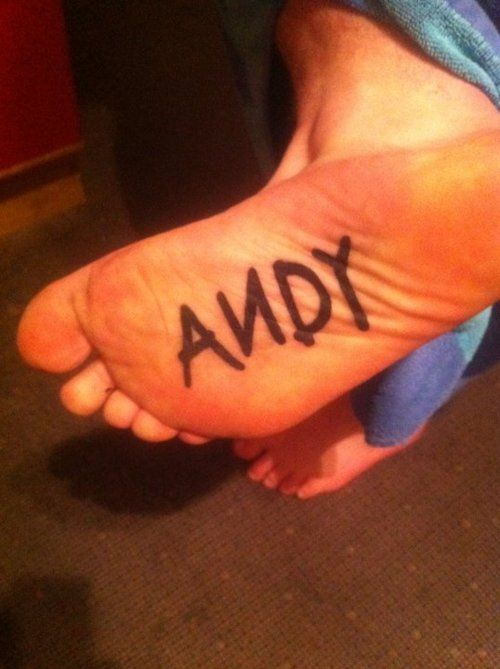 Toy Story foot tattoo