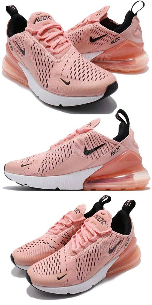 Women's Air Max 270 Nike Shoes Coral StardustBlack Summit