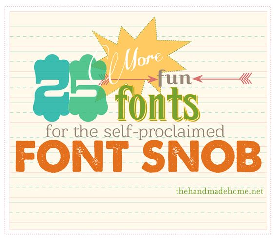 More fonts! All free! Font Snobs Unite!