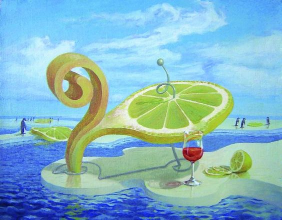 Surreal Paintings of the World of Lemons and More. See more art and information about Vitaly Urzhumov, Press the Image.: