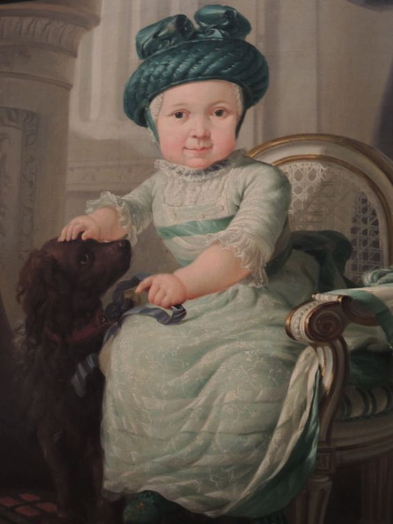 Abraham van Strij - Portrait of a 3-year old boy with hat and dog, 1783. Dordrechts Museum, Dordrecht: